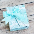 Paper gift box for jewelry