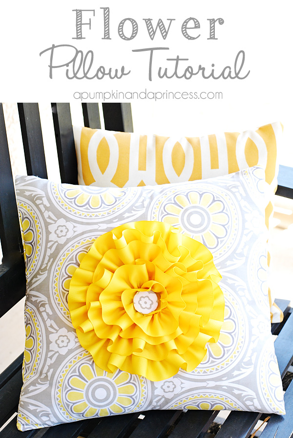 how to make pillow flower cover design