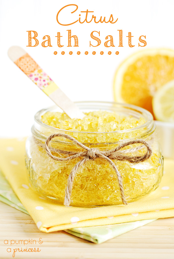 homemade citrus scented bath salts