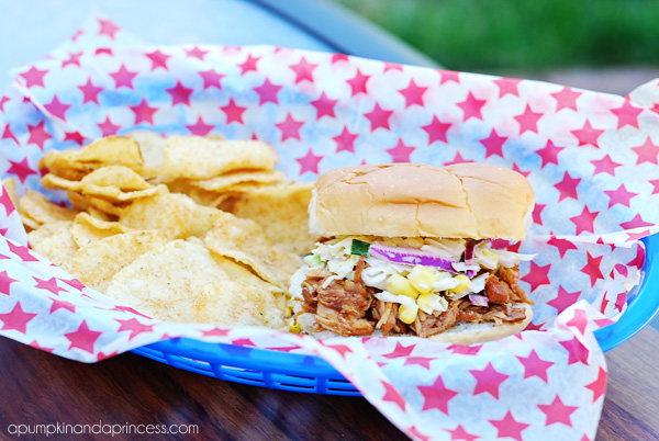 BBQ Sandwich with Tangy Corn Coleslaw Recipe