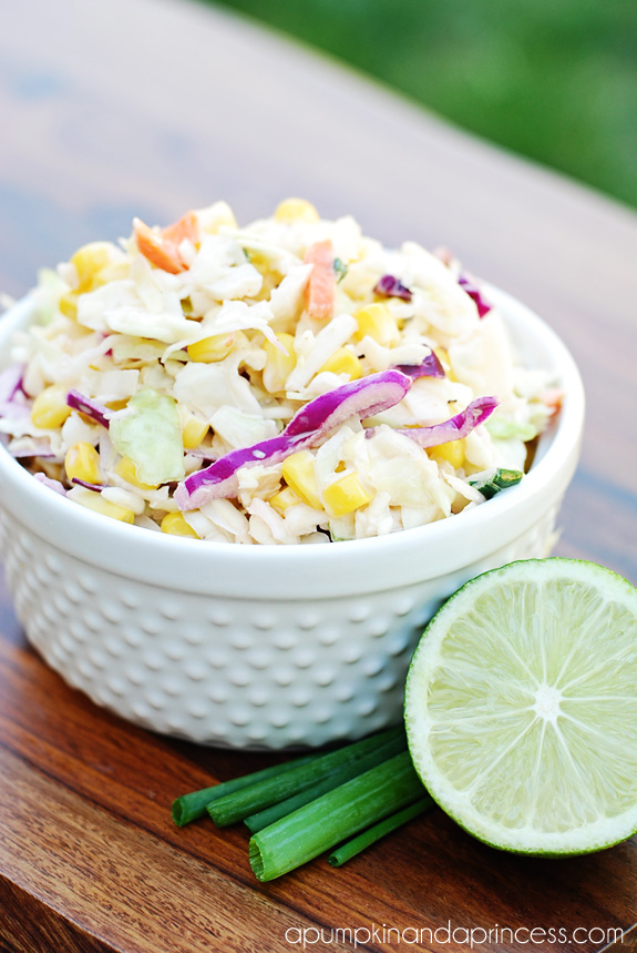 Tangy Corn Coleslaw Recipe