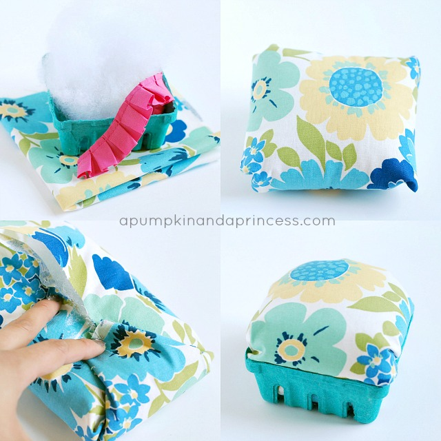 DIY berry basket pincushion tutorial