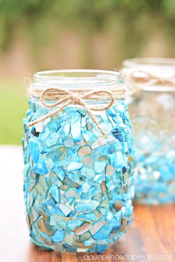 Beach Glass Mason Jar Crafts