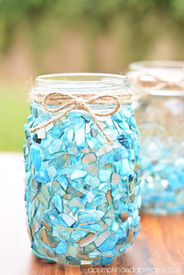 Beach Mason Jar