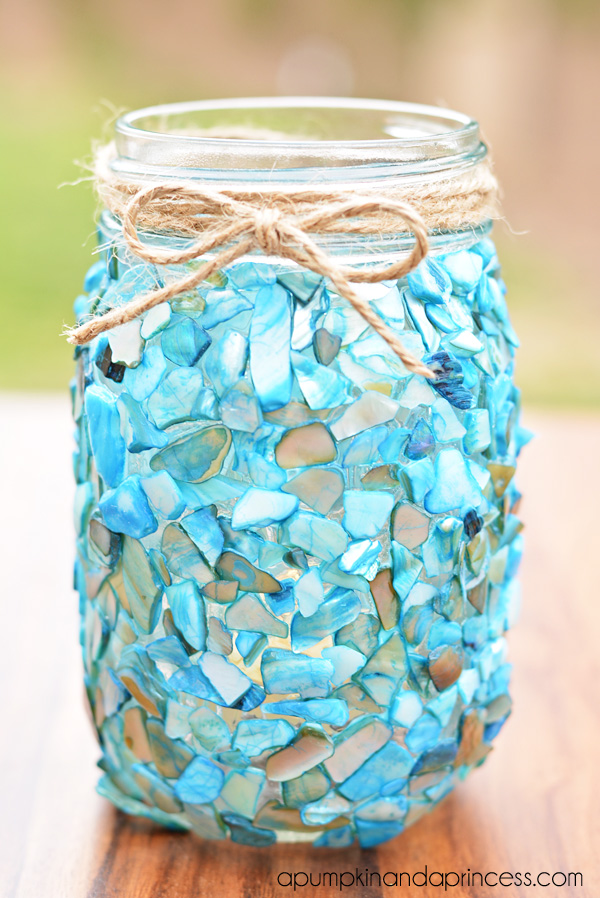 Beach Mason Jar Lantern Craft