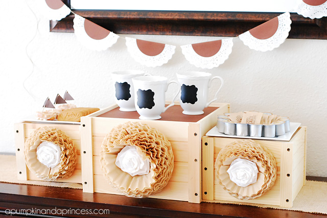Coffee Party Tablescape