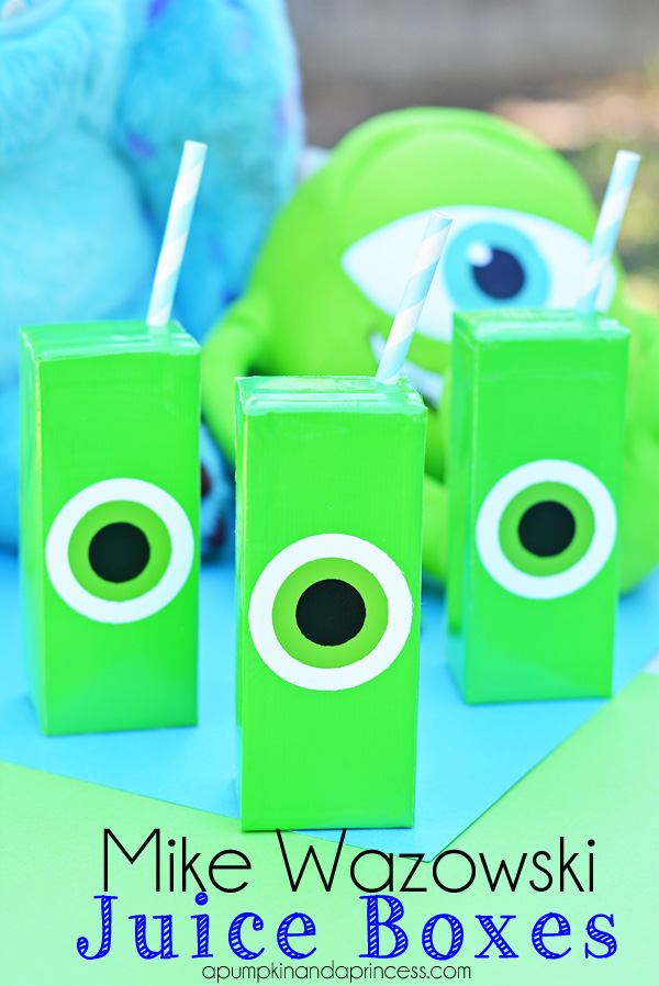 Mike Wazowski Crafts - Juice Boxes