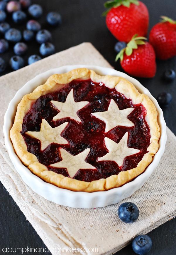 Mini Strawberry Blueberry Pies