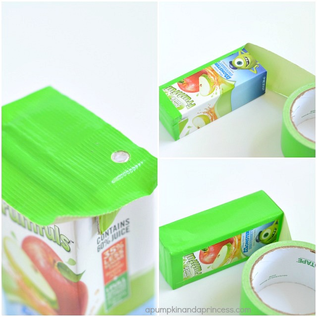 Monsters Inc Crafts - Mike Juice Boxes