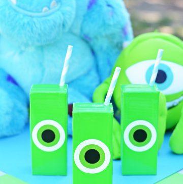 Mike Wazowski Crafts - Juice Boxes