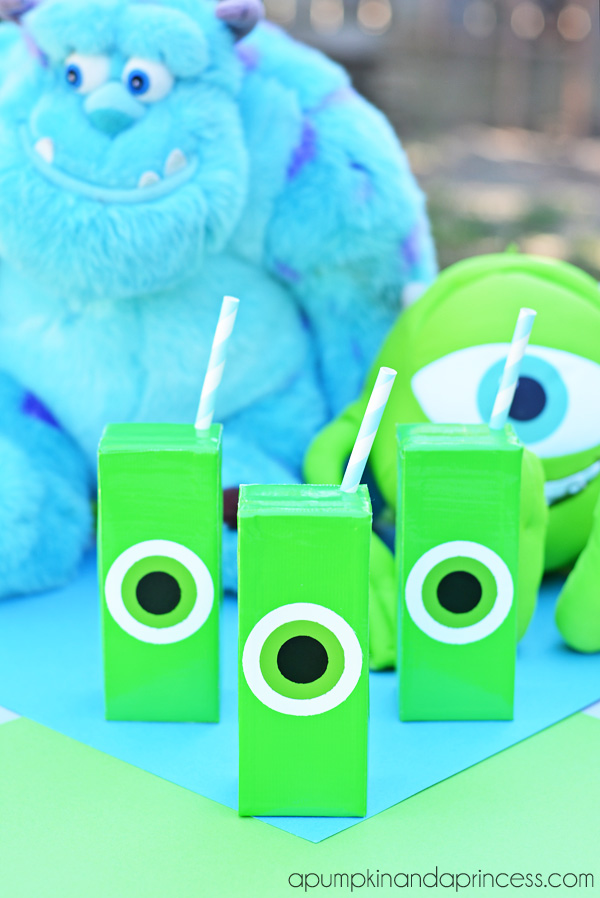 monsters inc craft ideas monsters ideas mike wazowski juice boxes 4988