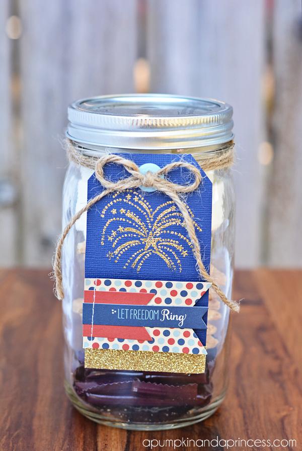 patriotic mason jar gift