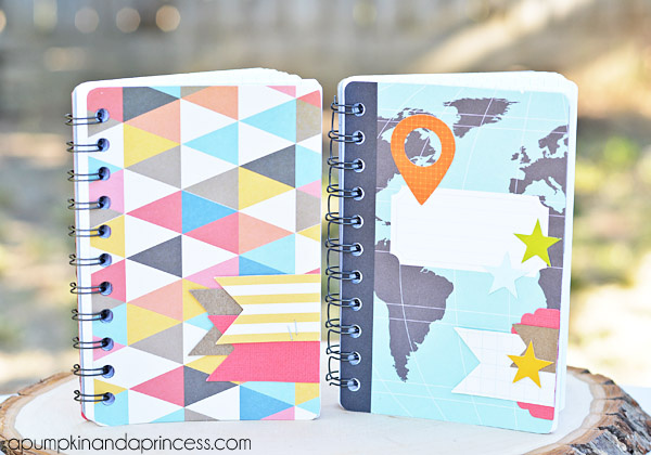 how to make a notebook using project life cards a pumpkin and a