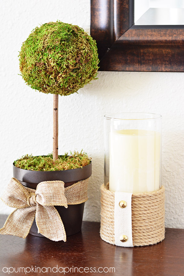 DIY Rope Hurricane Vase