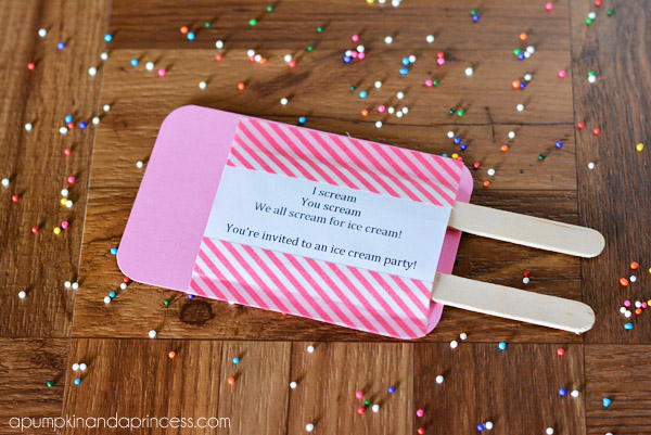 Ice Cream Party Invitations Giveaway A Pumpkin And A Princess – Ice Cream Party Invitation