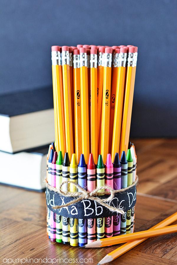 Teacher Gift Ideas Crayon Pencil Vase A Pumpkin And A Princess