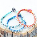DIY Rhinestone Wrap Bracelet