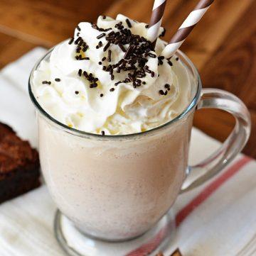 Peanut Butter Brownie Milkshake Recipe