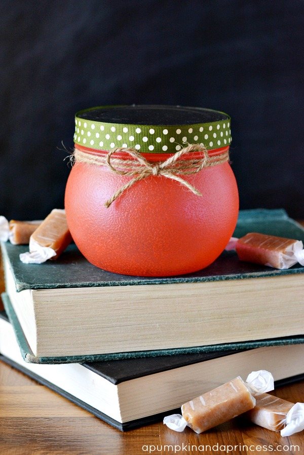 Teacher gift - apple treat jar