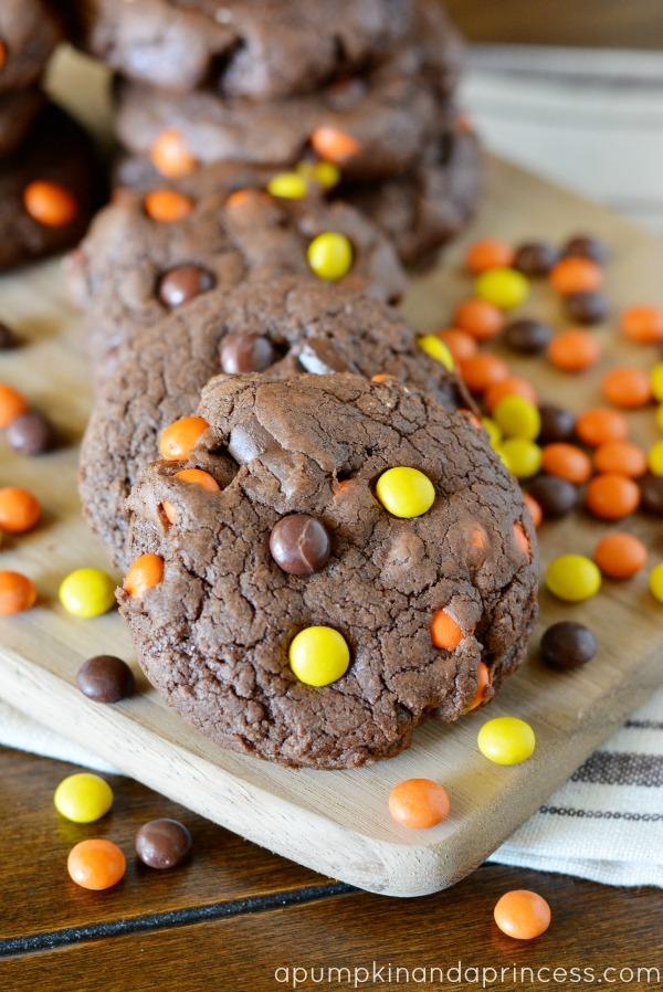 Chewy Reese's Chocolate Chunk Mocha Cookies