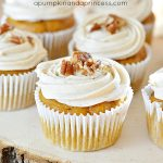 Maple Pecan Pumpkin Spice Cupcakes