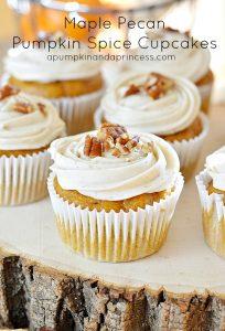 Maple Pecan Pumpkin Spice Cupcakes
