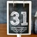 Chalkboard Printable Numbers {1-31}