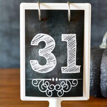 Chalkboard Numbers Printable