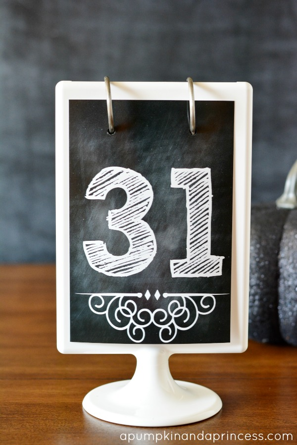 Chalkboard Numbers Printable
