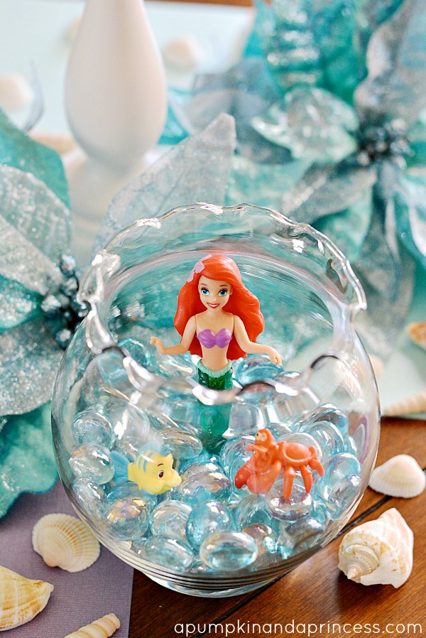 The little mermaid party a pumpkin and a princess for Ariel birthday party decoration ideas