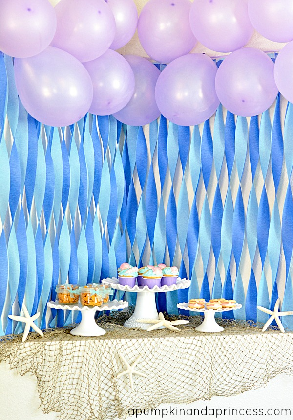 Little mermaid party ideas for Ariel party decoration ideas