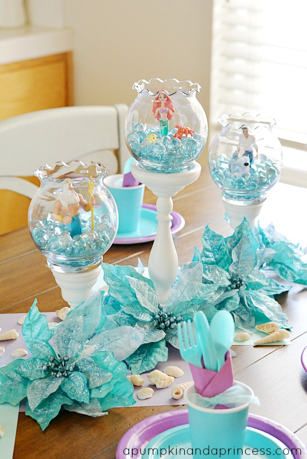 Turquoise Table Little Mermaid Decorations