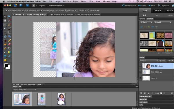 how to size photos for Project Life