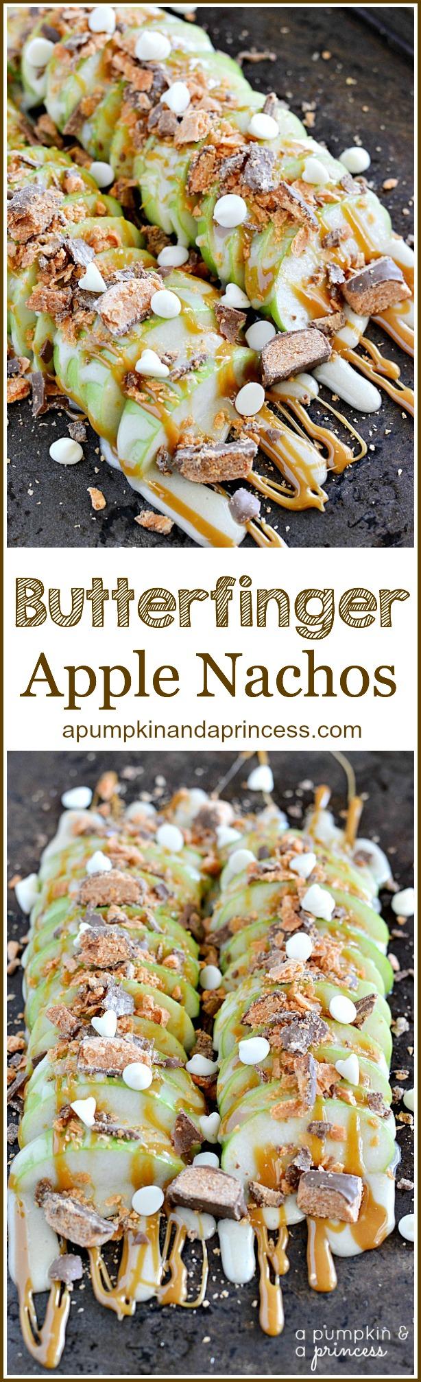 Butterfinger Apple Nachos