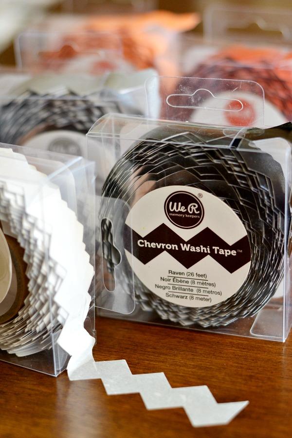 Chevron Washi Tape Crafts