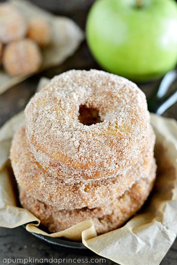 Apple Doughnuts from apumpkinandaprincess.com