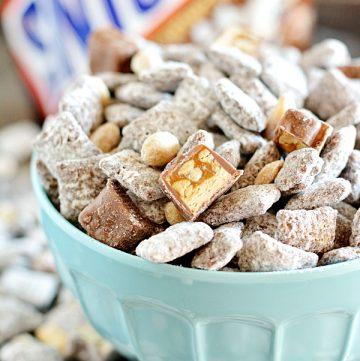 Snickers Muddy Buddies apumpkinandaprincess.com