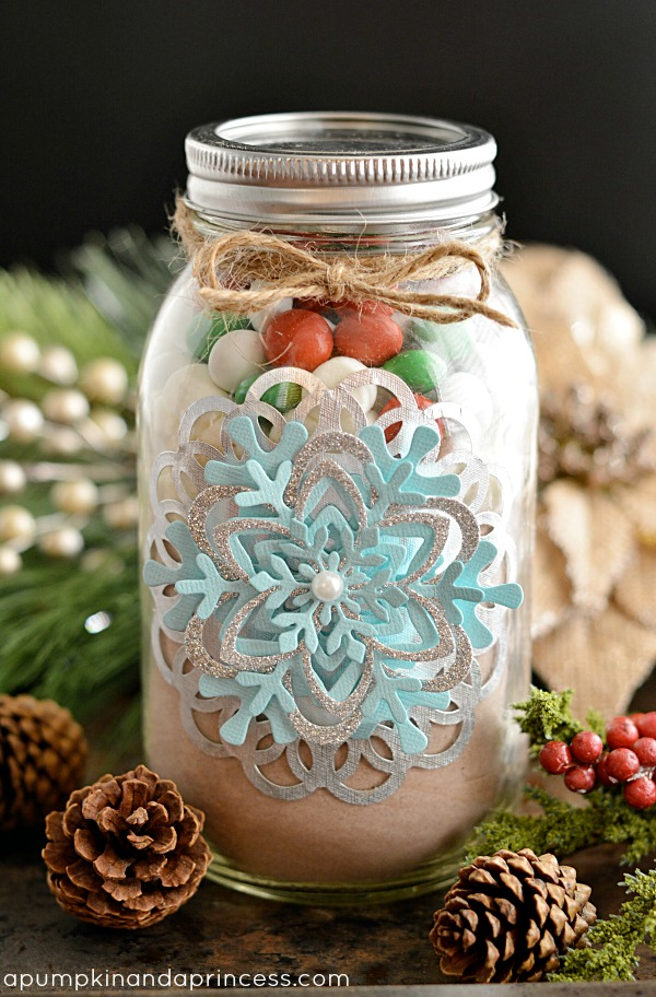 Mason Jar Craft Ideas For Christmas Part - 39: Hot Cocoa Mason Jar Gift