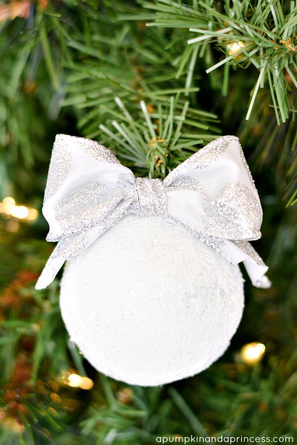 DIY Snowball Ornament