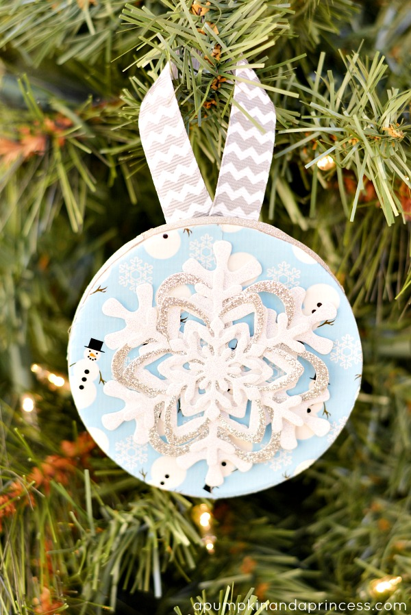 Duck Tape Snowflake Ornament Craft