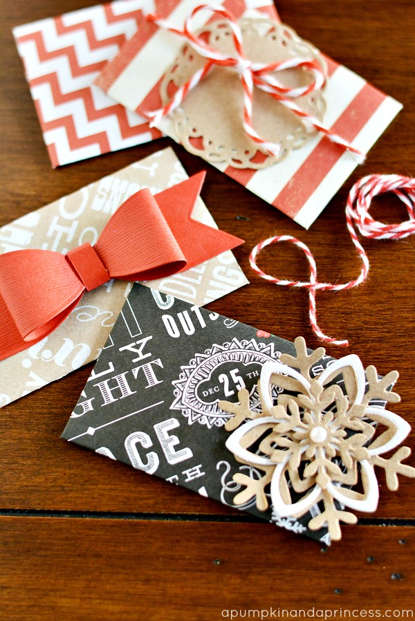 Handmade Christmas Gift Card Envelopes