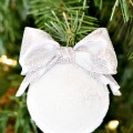 Handmade Snowball Ornament