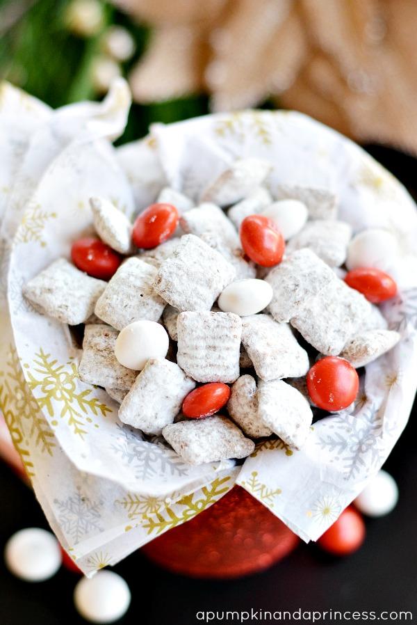 White Chocolate Peppermint Muddy Buddies