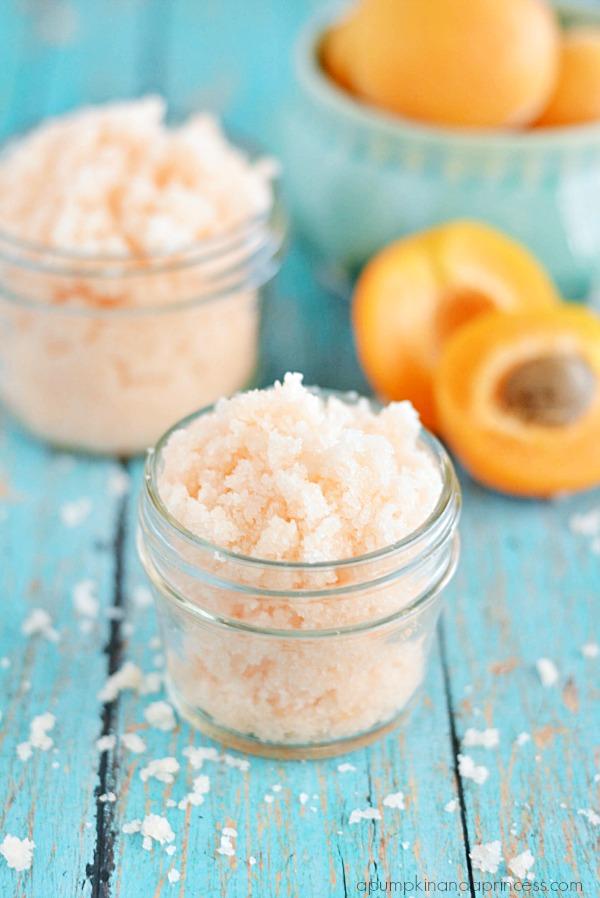 Homemade Apricot Sugar Scrub