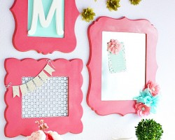 DIY Frame Wall Collage for girls room