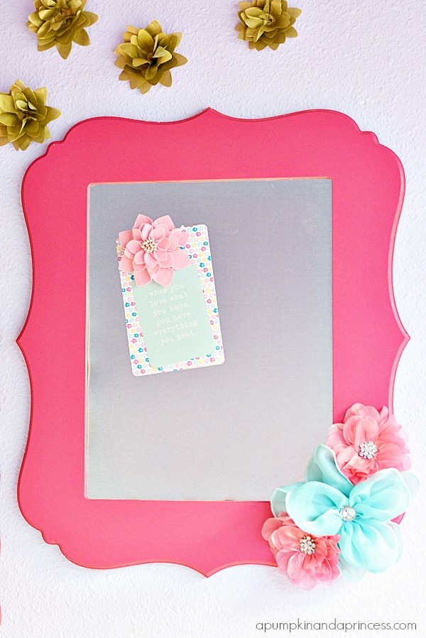 how to make a magnetic frame tutorial