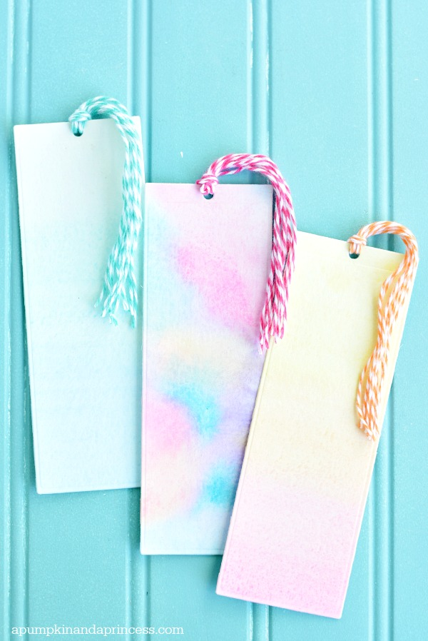 DIY Watercolor Bookmarks tutorial