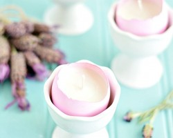 Lavender Eggshell Candles