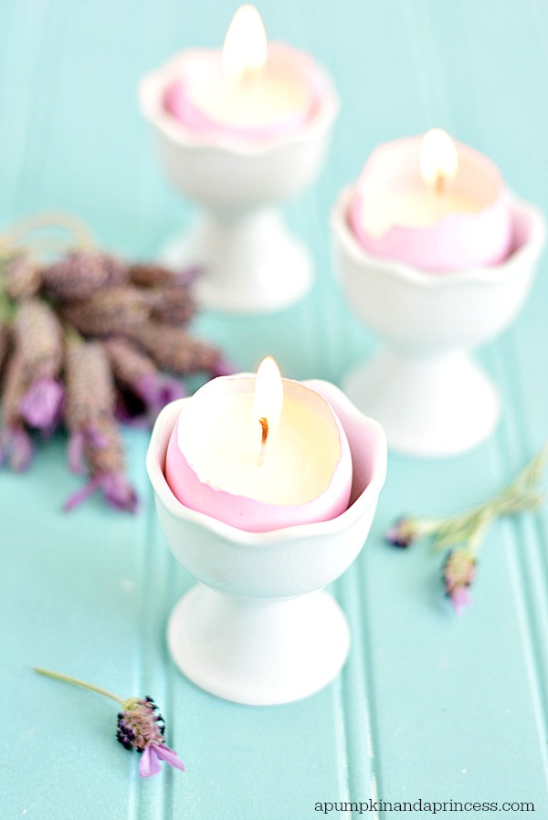 Lavender Eggshell Candles DIY