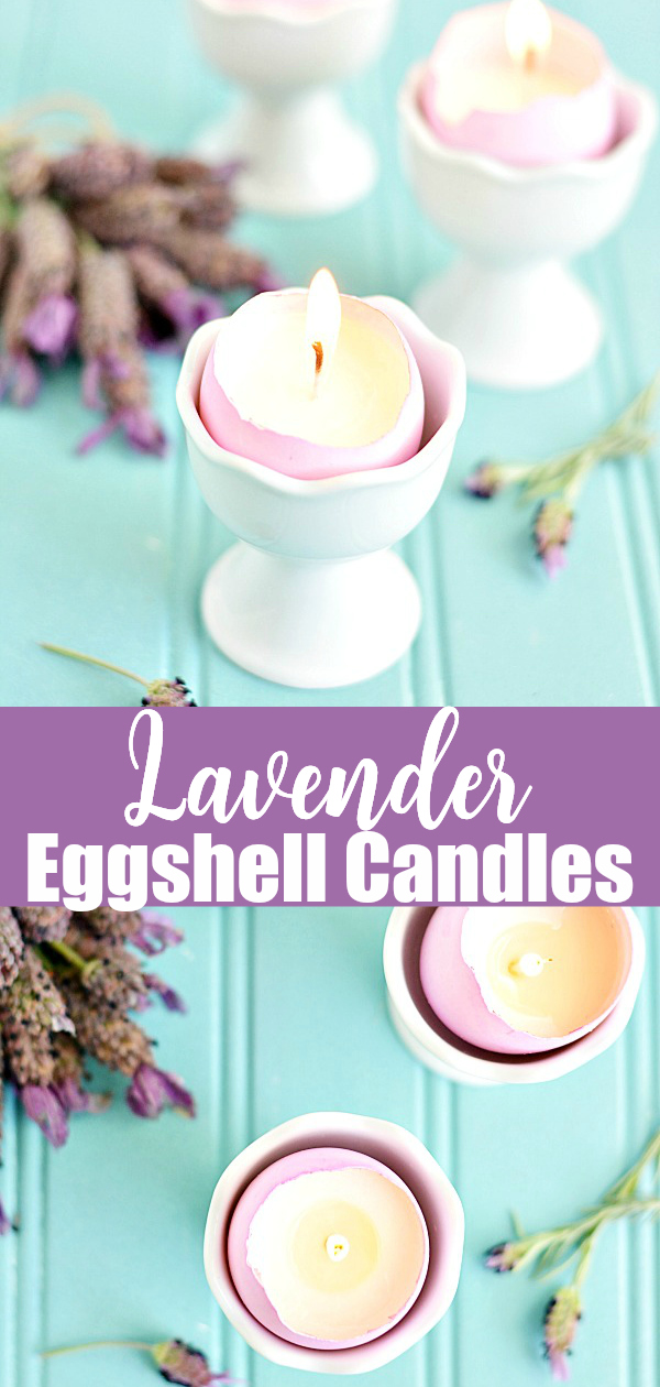 How to make eggshell candles - this easy tutorial will show you how to make soy wax candles in real eggshells